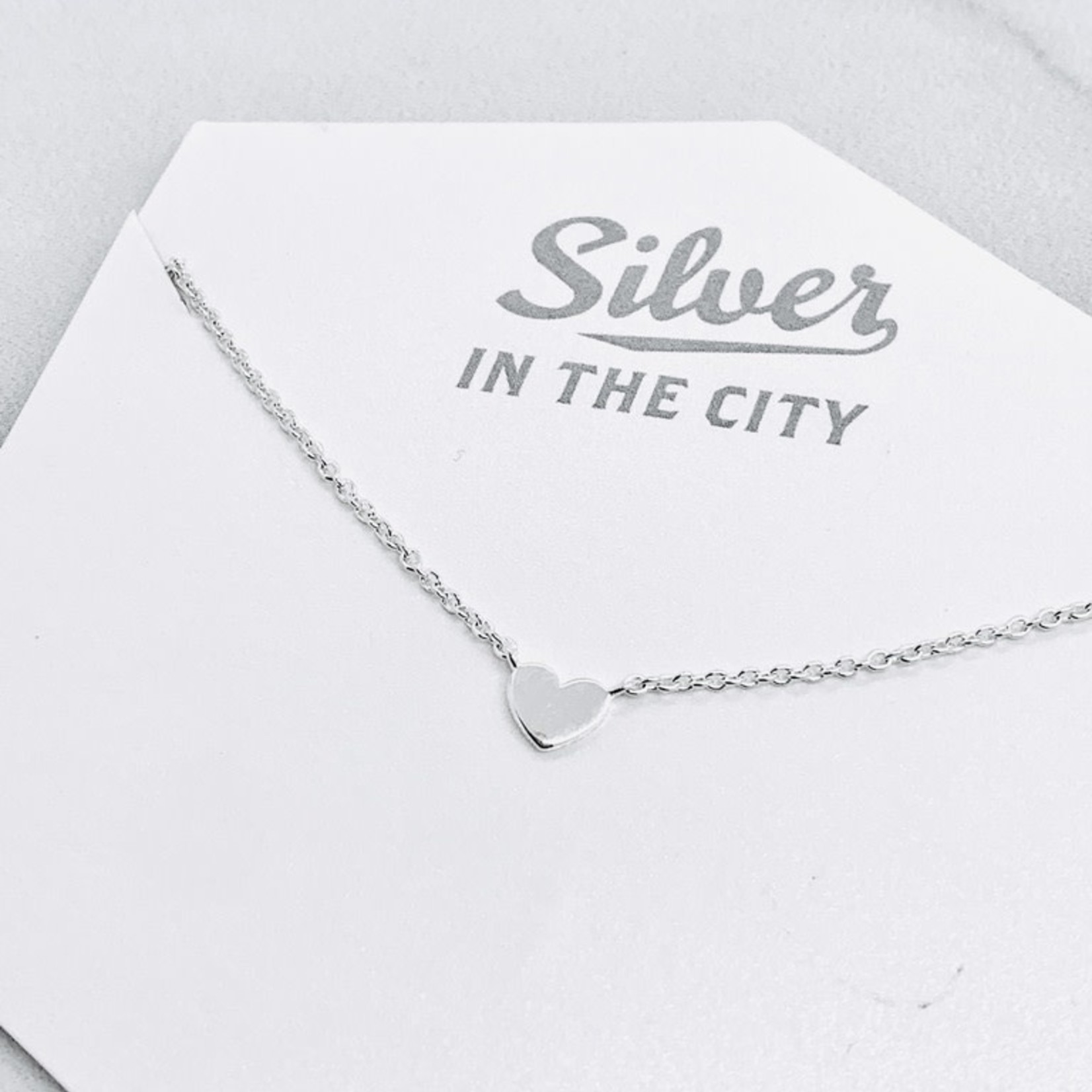 Sterling Silver Tiny Heart Necklace