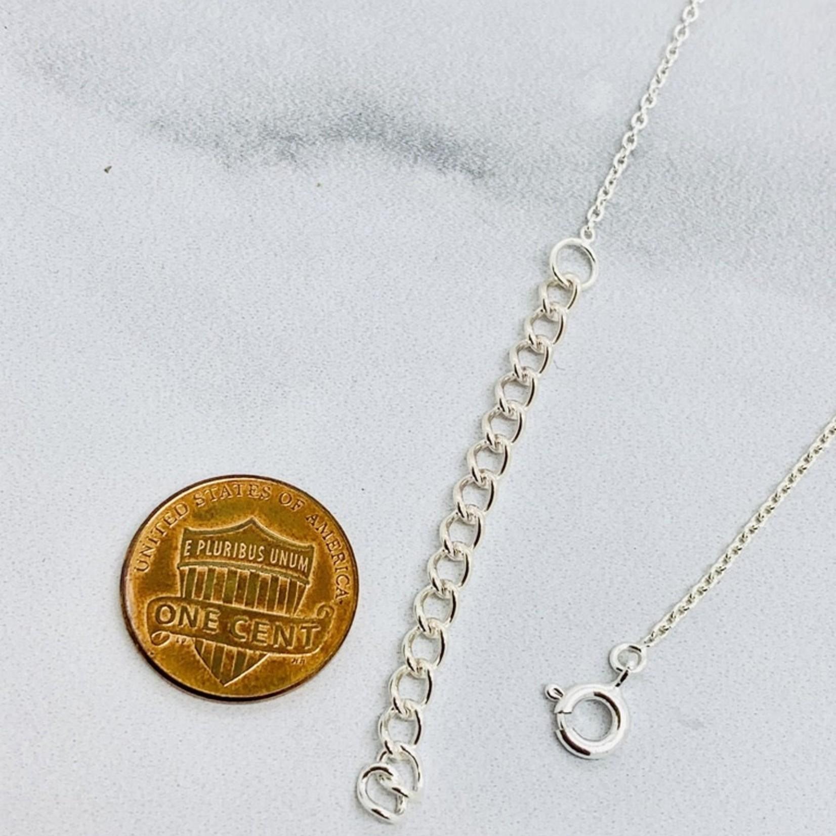 Sterling Silver Matte Cutout Heart Necklace