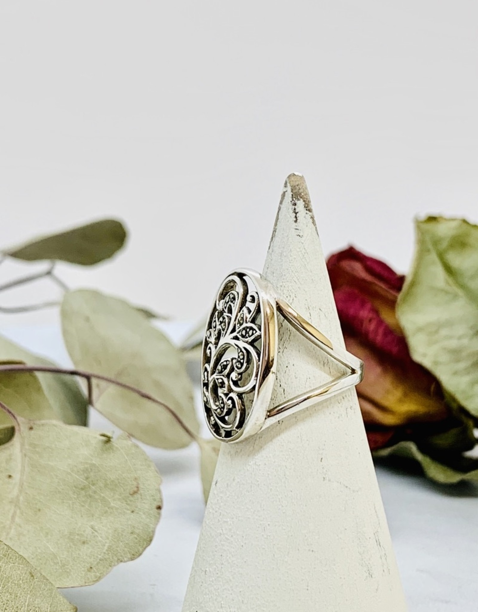 Sterling Silver and Marcasite Ring - INDY29136