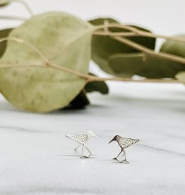 Sandpiper Silver Stud Earrings