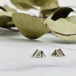 Tent Stud Earrings, Sterling Silver