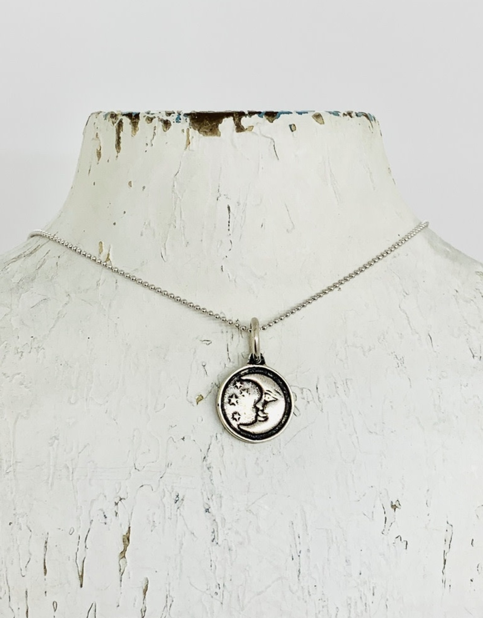 Sterling Silver Reversible Sun & Moon Necklace