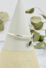 Double Gingko Leaf Wrap Cuff Bracelet