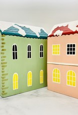 """7"""" x 9""""H Painted Wood Holiday Houses"""