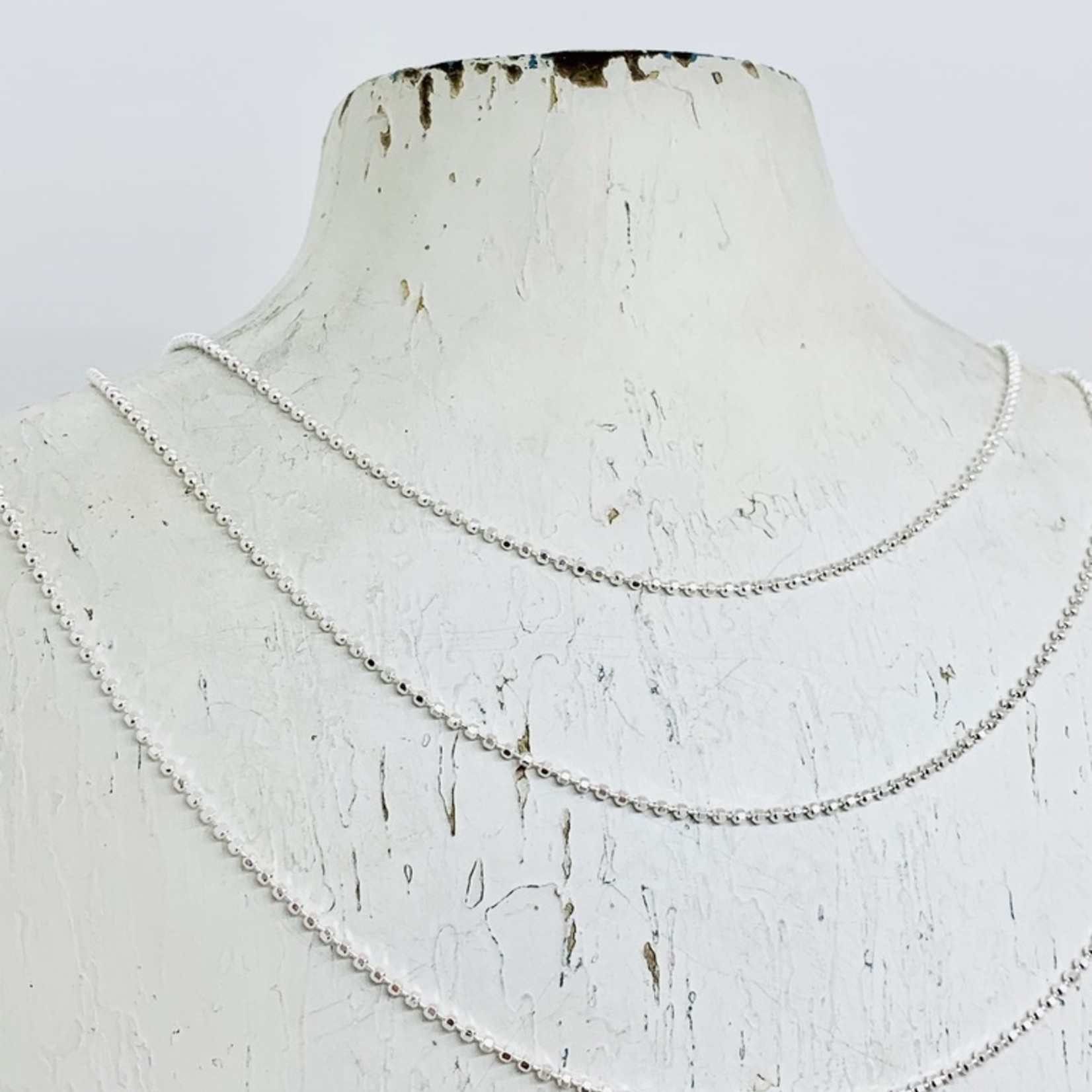 Sterling Silver Faceted Bead Chains