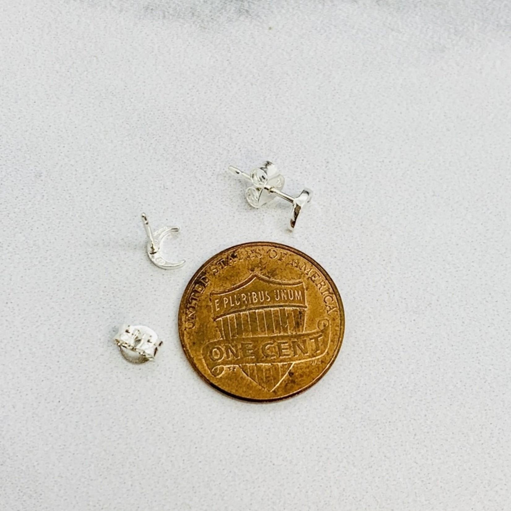 Crescent Moon Earrings, Sterling Silver