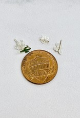 Sterling Silver and Green Enamel Cactus Earrings