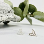 Sterling Silver Fancy Point Stud Earrings