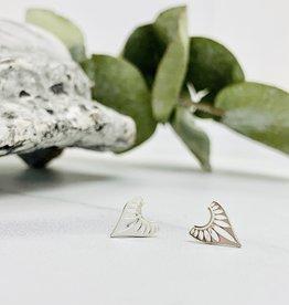 Sterling Silver Fancy Point Stud Earrings
