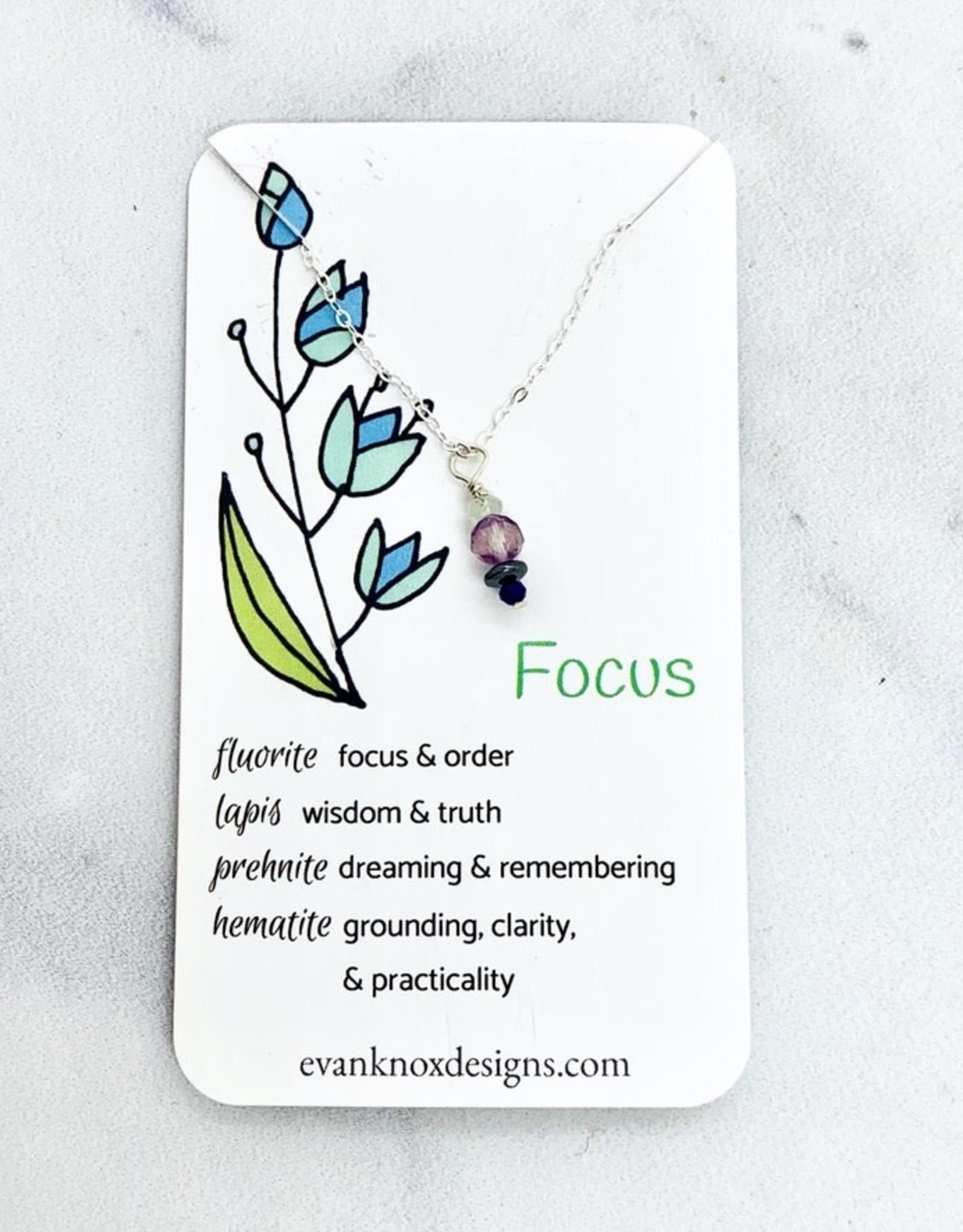Handmade Silver Necklace with focus gemstones