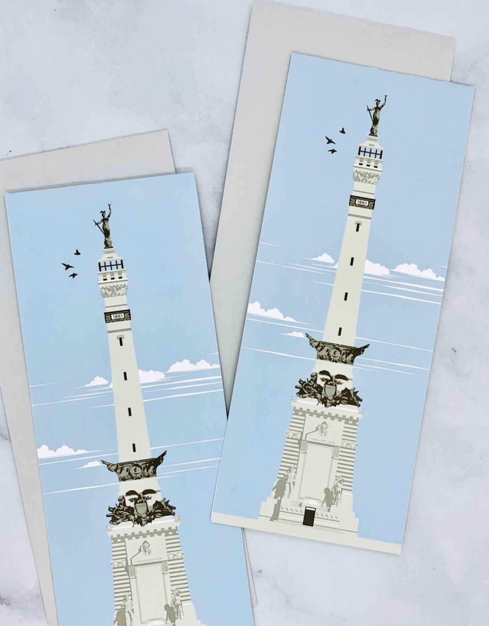 Timber Design Co Monument Circle Card by Lars Lawson