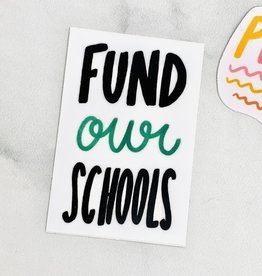 Craft Boner Fund Our Schools Sticker