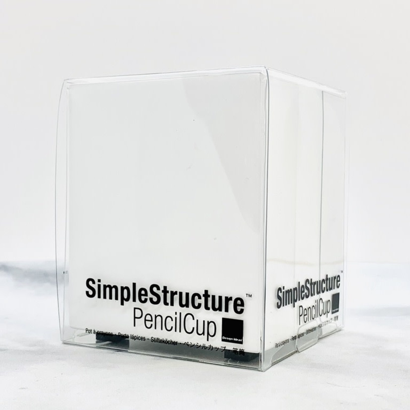 White Simple Structure Pencil Cup