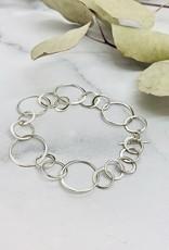 Nina Designs Silver Handmade Circle Chain Charm Bracelet