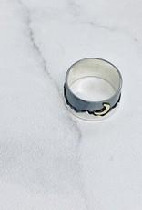 Nina Designs Silver Mountain Ring with Bronze Moon