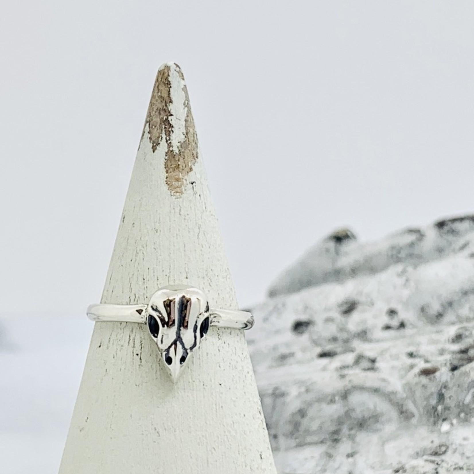 Nina Designs Small Bird Skull Ring