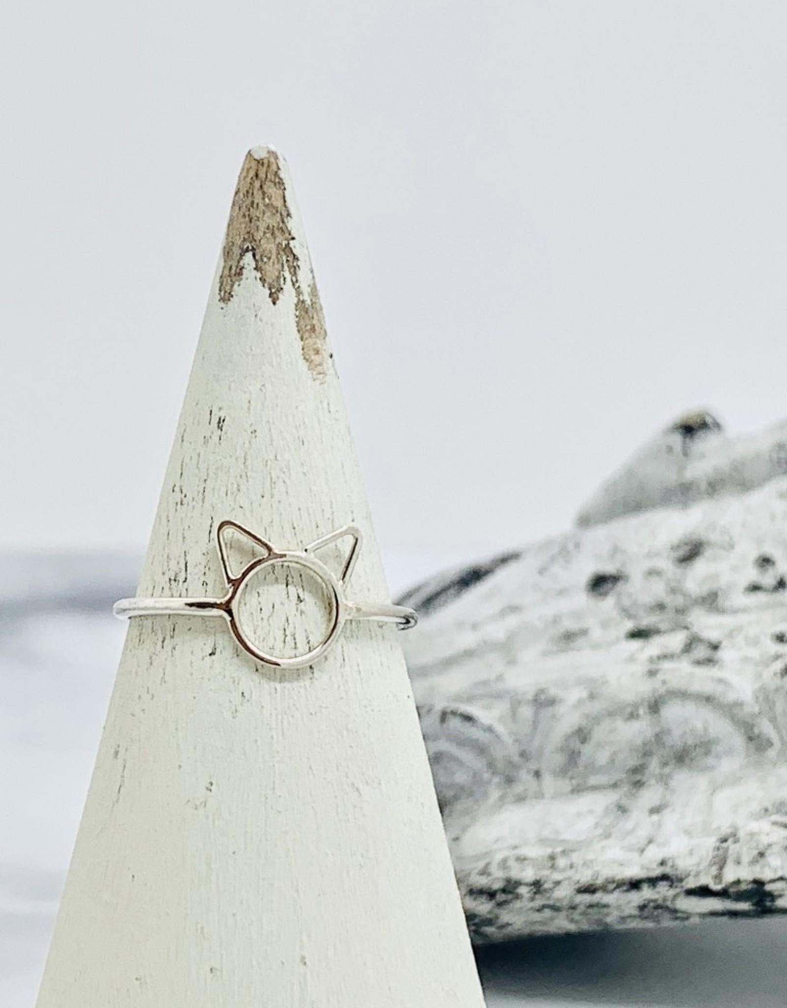 Nina Designs Silver Small Cat Ring