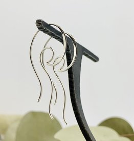 Nina Designs Open Wave Hoop Earrings