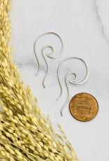Nina Designs Open Wave Hoop Earrings