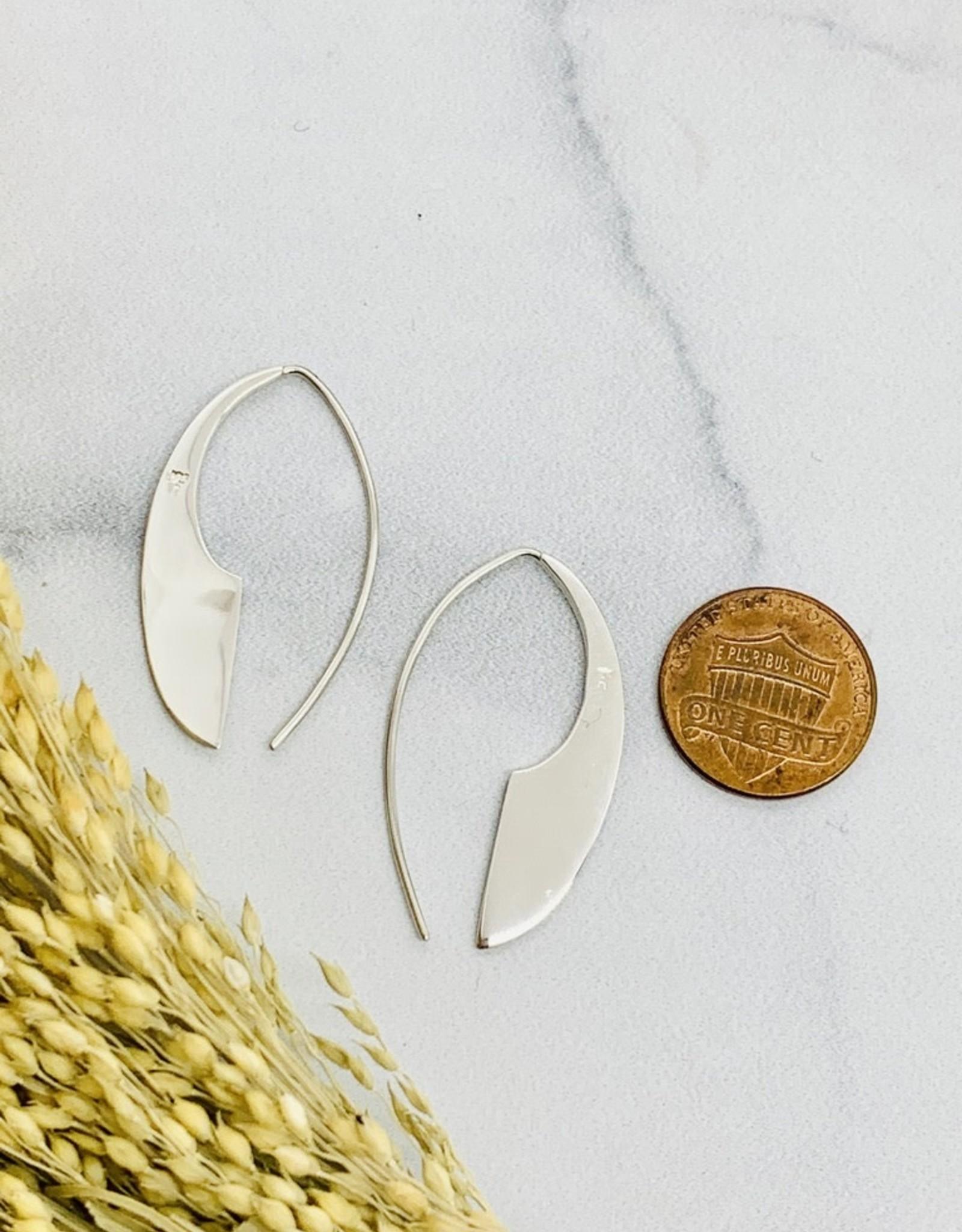 Nina Designs Sterling Silver Machete Earrings, 36x22mm