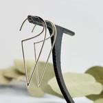 Nina Designs Open Wire Triangle Hoop Earrings, 40x15mm