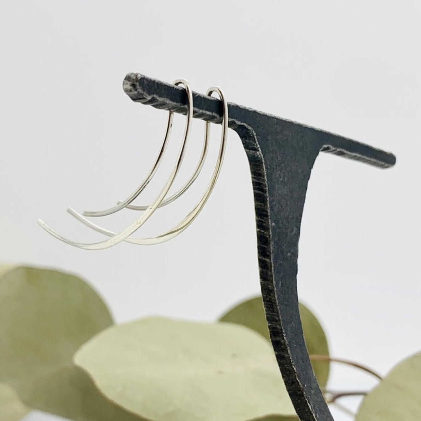 Nina Designs Long Swooping Arc Earrings, 40x15mm