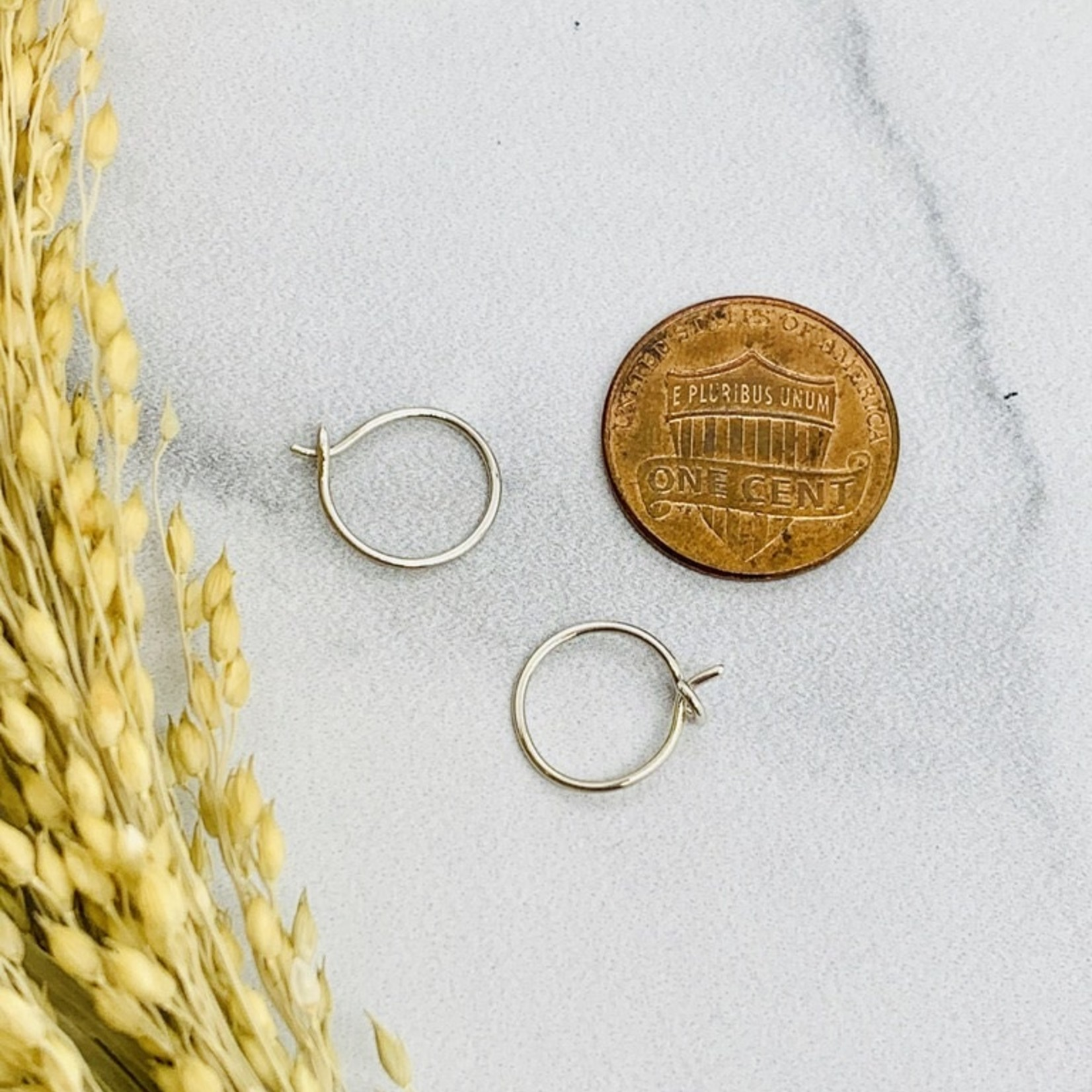 Nina Designs Circle Hoop Earrings, 11x11mm
