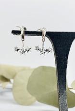 Nina Designs Silver Moon and Star Ear Jackets, 17x13mm