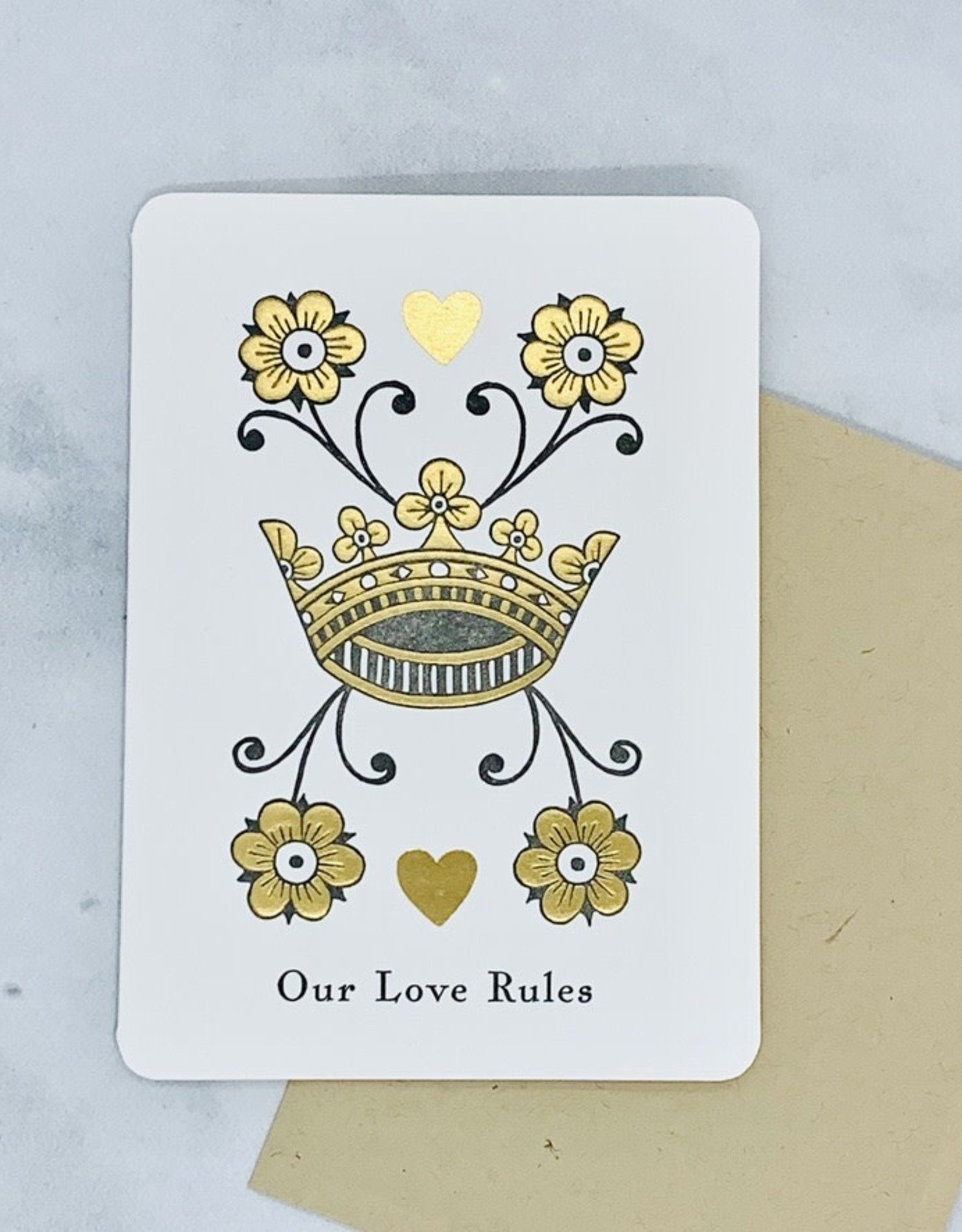 Our Love Rules Card