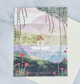 Valentine Swans Card