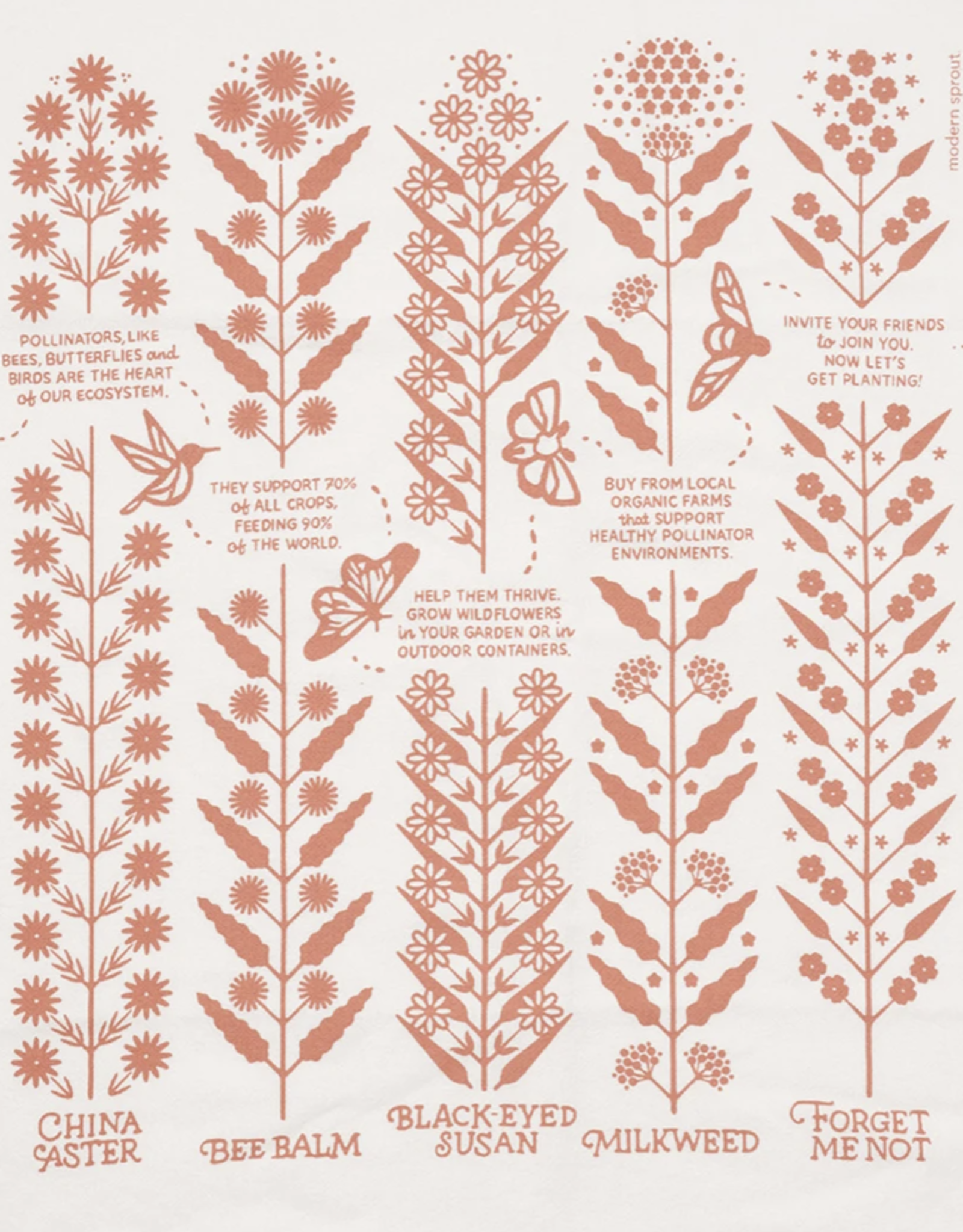 Modern Sprout Tea Towel: