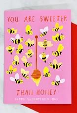 Mr. Boddington's Studio Sweeter Than Honey Valentine Card