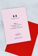 Mr. Boddington's Studio Stuck with You Valentine Card