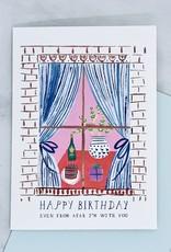 Mr. Boddington's Studio Window Party Birthday Card