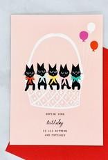 Mr. Boddington's Studio Basket of Kittens Birthday Card