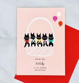 Mr. Boddington's Studio Basket of Kittens Birthday Card
