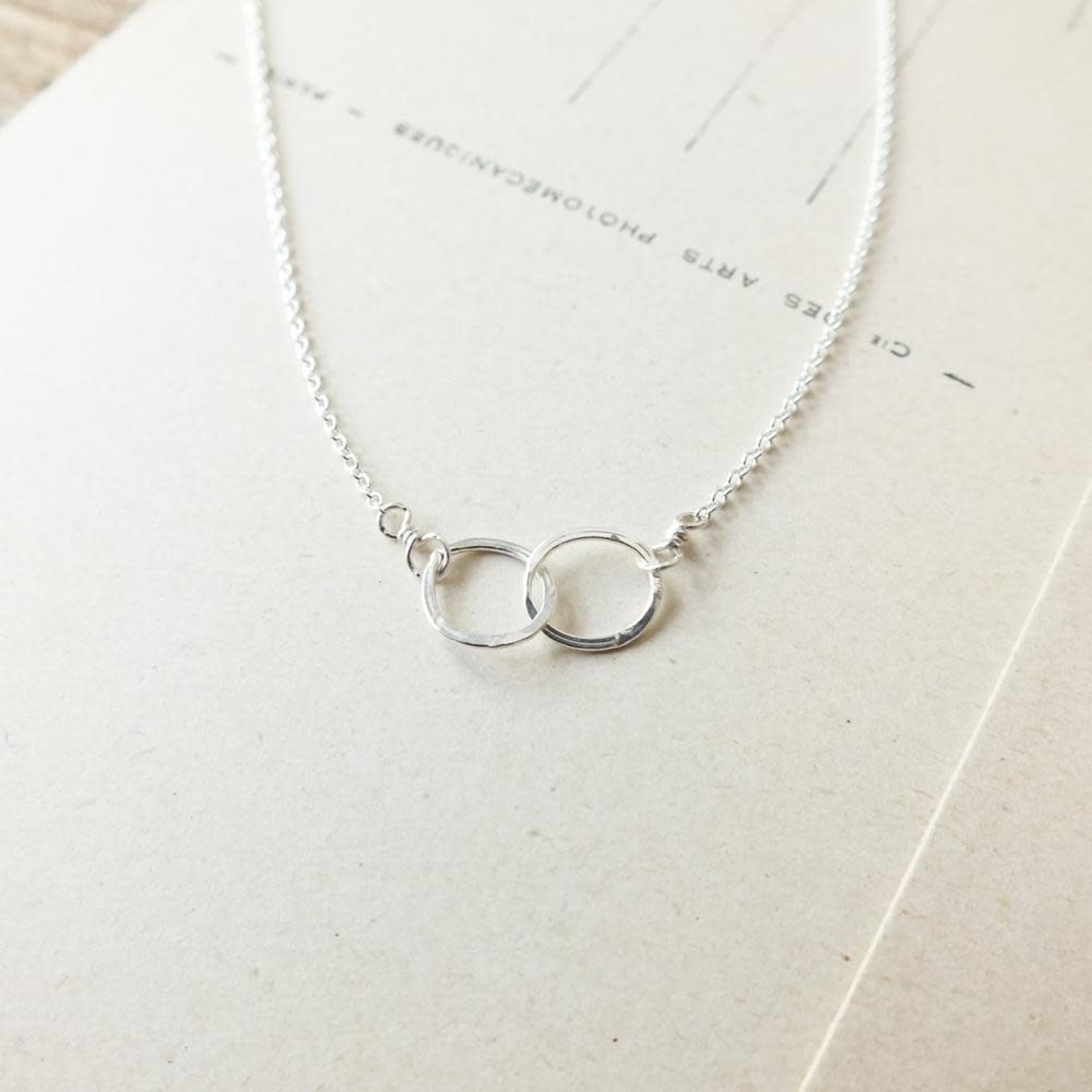 Becoming Jewelry Tiny Intertwined Circles Necklace, Silver