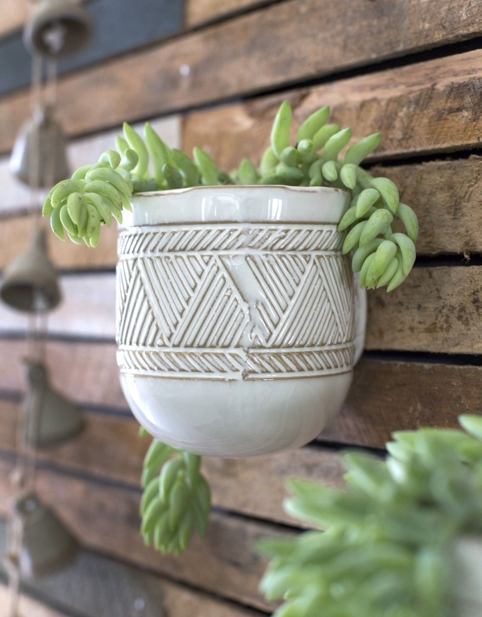 "Accent Decor 3.75""x4.25"" Tribe Hanging Pot"