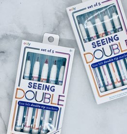 Seeing Double Fine Felt Double Tip Markers S/5