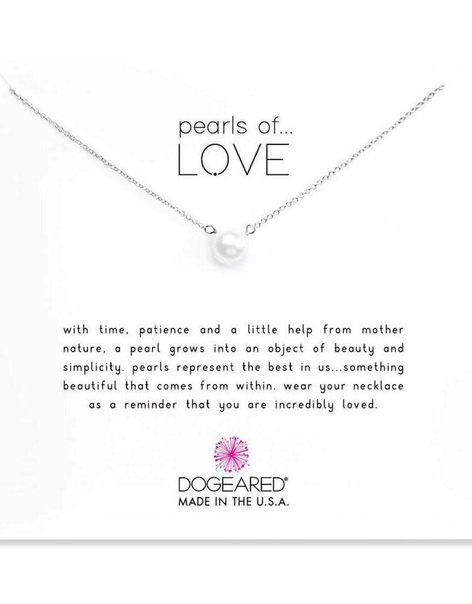 "Sterling Silver 16"" Large Pearls of Love Necklace"