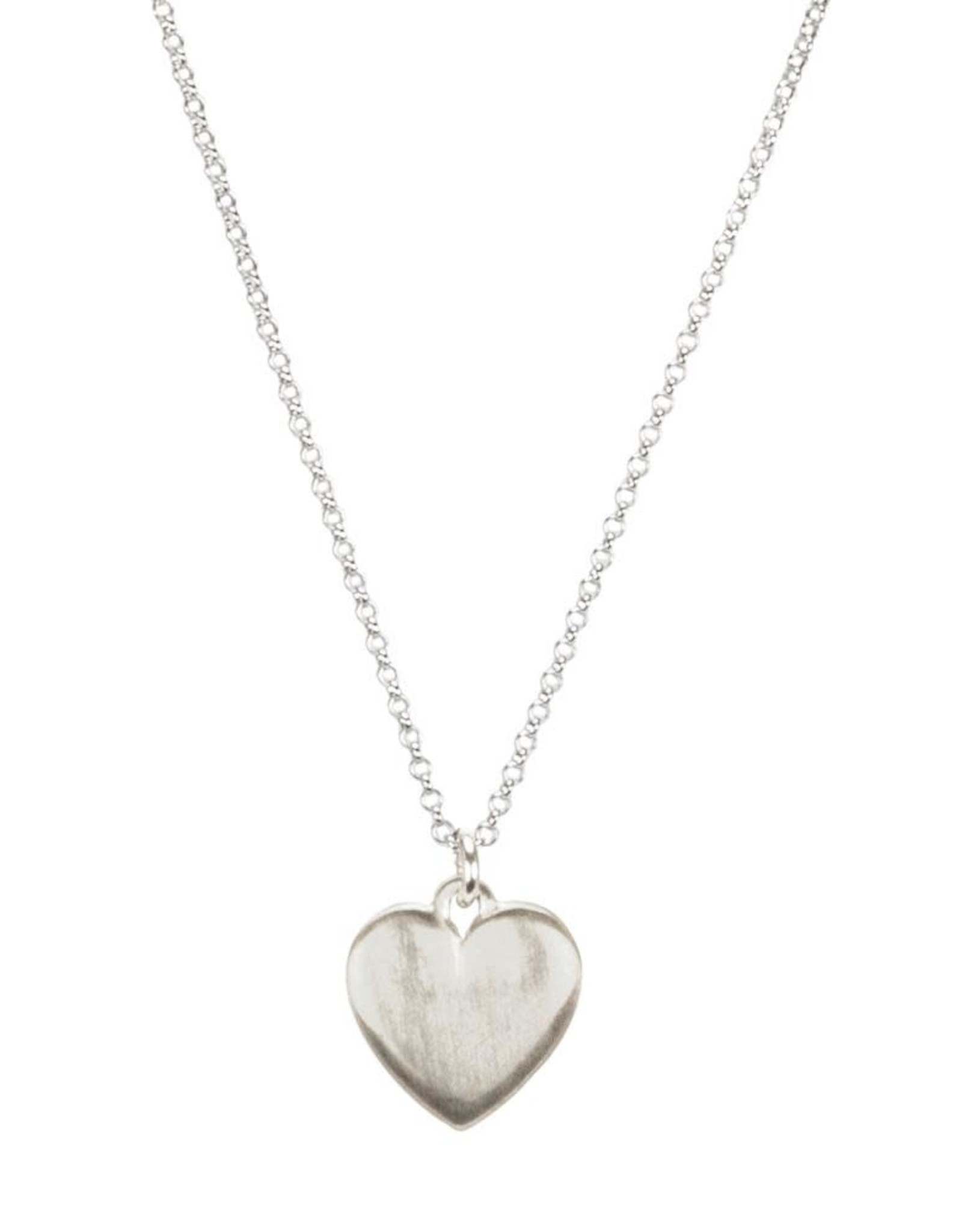 """Sterling Silver Large Heart Necklace, 16 +2"""""""