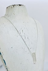 "Locally Handmade Quartz Pendulum and Sterling Silver 20"" Necklace"