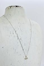 "Locally Handmade Evil Eye White Topaz 16"" Necklace"