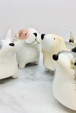 Hand-Painted Ceramic Dog Planter: