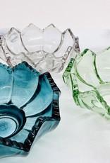 "5"" Round x 2""H Fluted Glass Tealight Holder:"