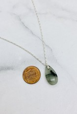 Handmade Necklace with moss agate briolette