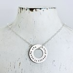"""Handmade Necklace with washer """"for there is always light"""" Amanda Gorman"""