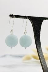 Handmade aquamarine coin Earrings