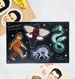 Hannah Lee Scott Cryptids Sticker Sheet