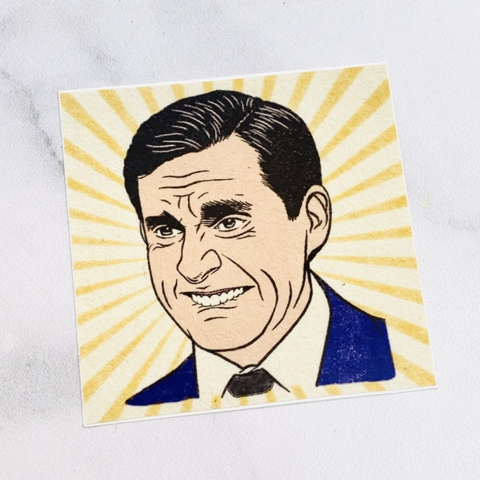 Hannah Lee Scott Michael Scott Sticker